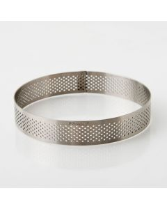 11 cm Perforated Round Stainless-Steel Tart Band